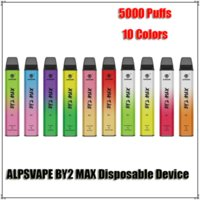 Authentic AlpsVape By2 Max 5000 Blows Blows Deposito eliminabile Dispositivo Bottom Switch ricaricabile 900mAh Batteria Premilled 12ml Cartucce VAPE PEN VS BAR PLUS XXL