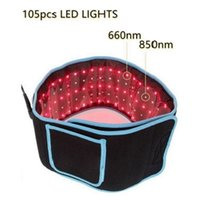Portable LED Dimagrante cinture in vita cinture a luce rossa terapia a infrarossi a infrarossi cintura antidolorifico LLLT LLLT ALIMENTAZIONE BODY Shaping Sculpting 660nm 850nm Lipo laser laser