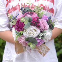 الأزرق الاصطناعي روز زهرة باقات الحرير روز داليا الزهور ترتيب الزفاف زهرة باقات ل حفل زفاف حديقة المنزل