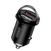 Joyroom Cargador de coche JR-C10 45W 5A DUAL USB Adaptador de carga rápida Cargador de coche para iPhone 11 Samsung S20