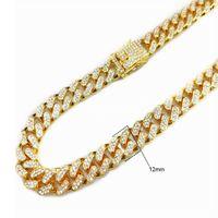Uomini hip hop bling ghiacciato a tennis catena di tennis 1 fila argento oro colore collana braccialetto Sumptuoso gioielli moda clastica 58525