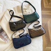 Evening Bags Fashion Women's Bag Patent PU Leather Pure Color Shoulder Underarm For Women Casual Ladies Small Shopper Handbags Purse