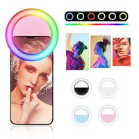 Flash Heads LED RGB Selfie Light Hoop For Mobile Phone, Moving Hoop, Ring, Portable Light, Rechargeable Aro De Luz Movil