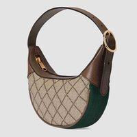 패션 브랜드 디자인 숙녀 숄더백 겨드랑이 가방 작은 CC 핸드백 PVC 패브릭 658551