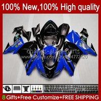 Motorcycle Fairings For KAWASAKI NINJA ZX-10R ZX1000 ZX 10R 10 R 1000 CC 2006-2007 Bodywork 14No.57 ZX1000C ZX10R 06 07 ZX1000CC 1000CC 2006 2007 Bodys kit blue stock