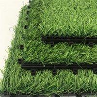 يمكن تقسم العشب الاصطناعي 30 سنتيمتر * 30 سنتيمتر صديقة للبيئة البلاستيك المحمولة المنزل حديقة الديكور الأخضر السجاد العشب owe5161