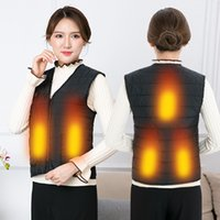 Women Autumn Winter Smart Heating Cotton Vest USB Infrared Electric Heated Vests Woman Outdoor Flexible Thermal Warm Jacket