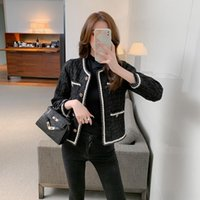 Women's Jackets Retro Small Fragrance Chic Tweed Jacket Women 2021 Autumn Korean Fashion French Temperament Top Female