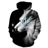 Biaolun 2020 nuove felpe con cappuccio con cappuccio da uomo autunno inverno hip-hop con cappuccio con cappuccio Casual Brand 3D Wolf Head Felpa S-6XL