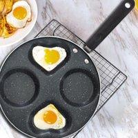 Máquina de huevo de huevo frito de cuatro orificios Máquina de panqueques de huevo frito sin palanado sin aceite sin aceite de humo fácil de limpiar