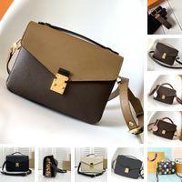 2021 Bolsa de hombro Mujer Venta Descuento Calidad Metis Handbag Genuine Cuero Manija de la marca Diseñador de letras florales Cross Cross Body Bollse