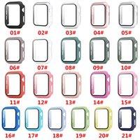 Cas de montre dur mat avec protecteur d'écran pour Apple IWatch Series 5/4/3/2/1 Couverture complète Case de couverture 38 40 42 44mm