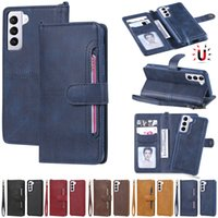 Multifunction Phone Cases for Samsung Galaxy S30 21 20 10 9 8 Plus Ultra S20FE S10E Made of PU Leather with Card Holders Hand Strap