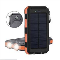 Solar Lamps 20000mAh Dual USB DIY Powered Bank Case Kit With LED Light Com Pass Waterproof For Outdoor Torch Portable
