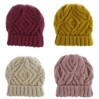 Autumn Winter Outdoor Sports Travel Solid Color Caps Hats Warm Knitted Beanie Fashion Accessories For Women Girl