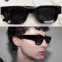 Mens Womens 디자이너 선글라스 Rhodeo-102 패션 클래식 블랙 스퀘어 트렌드 브랜드 미니 태양 안경 슈퍼 두꺼운 시트 프레임 최고 품질 벨트 박스