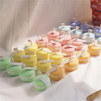 Macaron profumato candele portatile mini macaron carino festa di compleanno festival casa decorativa candele decorative foto tiro puntelli