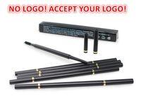 Pas de logo! Crayon automatique de haute qualité à sourcils de 6 couleurs Stylo à sourcils imperméables avec outil de maquillage à sourcils de brosse accepter votre logo