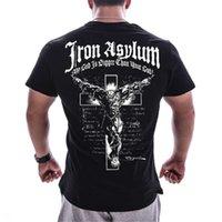 Männer Fitnessstudios Fitness Gewichtheben T-shirt Sommer Lässig bedruckt CX10 x1214