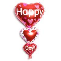 Helyum Balon Düğün Aşk Kalp Şekli Alüminyum Folyo Balonlar Şişme Hediye Doğum Günü Partisi Yıldönümü Dekorasyon Aksesuarları