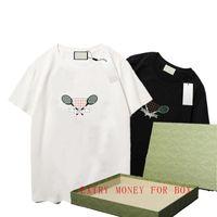 Femmes et hommes T-shirt Lettre de designer Imprimer Col Couche Casual Summer Summer T-shirts Tops Solid Couleur Tops Tees en gros