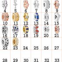 2020 925 Sterling Silver DIY espaçador clipe esfera estrela amor coração charme pulseira original jóias para as mulheres