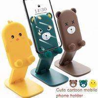 Cute Cartoon Desktop Phone Holder Adjustable Angle Lazy Desk Mobile CellPhone Stand For Smartphone Tablet