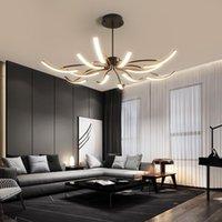 Mdwell Mat Siyah / Beyaz Bitmiş Modern LED Tavan Işıkları Oturma Odası Yatak Odası Çalışma Odası Için Ayarlanabilir Yeni LED Tavan Lambası
