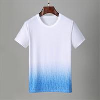 2021 Casual Brand Lettera maschile Stampa Hip Hop Tops Streetwear Tee Shirts per Summer Men Pullover T-shirt manica corta in cotone manica corta # 6809 T-shirt