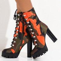 Doratasia 2020 Plus Size 43 Stivaletti caviglia Ins Hot Sexy Camouflage Super High Tacchi Design Stivali da donna Scarpe da donna Donna 76Gio #