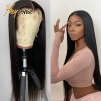 Lace Wigs Heycome Pre Plucked Peruvian Natural Hair 13x4 Front Human Bone Straight Frontal BOb For Women 180% Density