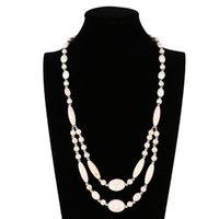 Jiasha бирюзовая пуля двойная рука бисером моды женское ожерелье JSN809 C46i