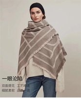 high quality New cashmere wool blanket Swedish geometric shawl Warm Large scarf air conditioning room autumn and winter women