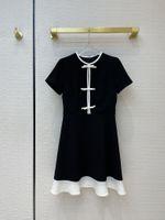 Milan Runway dress 2021 New Spring Summer Print Women's Designer Dress Brand Same Style Dress 0224-1