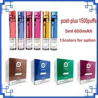 Aktualisiert POSH Plus XL 1500Pepps Einweg Zigarettengerät Pod 5ml Kartuschen VAPE Leer Pen vs Switch Bang Max Infinity Puff XXL