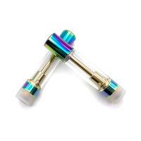 Rainbow color vape cartridge 0.5ml 1.0ml thick oil atomizer cartridges ceramic coil disposable vaporizer