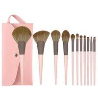 Makeup Brushes 11Pcs Brush Sets For Foundation Eyeshadow Eyebrow Smudge Blush Powder Concealer Contour Cosmetic Tool Wholesale