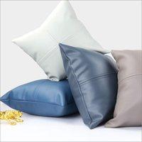 Cushion Decorative Pillow Imitation Leather Cushion Cover 45x45cm Throw Pillows Decorative Home Decor Funda Cojin Sofa Living Room Car