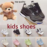 dunks Kids basketball 4 4s breathable Infants Running Shoes Girls Azareth Safflower Yellow Sneakers Children Little Boys sprots Trainers
