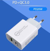 GOOD 20W PD Type-C QC3.0 USB Fast Charger Phone US EU AU Plug Adaptor Wall Chargers For iPhone 12 Pro Samsung Oneplus HTC Xiaomi AFC FCP