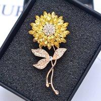 Sunflower Diamond Broche Mode Corsage de fleurs haut de gamme