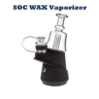 SOC Enail Kit Dry Herb Vaporizer Wax Concentrate Portable Dab Rig Kits Shatter Budder With 4 Heat Long Lasting Glass Bong Dabber