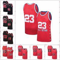 2021 homens de baixo custo retro clássico jersey mj 23 Michael Dennis 91 Rodman Scottie 33 Pippen vintage respirável shorts tamanho S-2XL azul branco preto vermelho