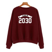 Class of 2030 women's alphabet printed long sleeve sweater yy0012 hoodies