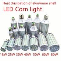 電球LED電球のアルミニウムシェルランプ18W25W30W40W50W 60W 80W 100W 220V E14 E26 E27 E39 E40コーンライトストリートクールな白い白