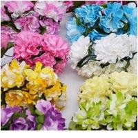 72 pçs / lote 3cm papel artificial flores crisântemo buquê de flores de casamento decoração diy scrapbooking grinalda fak jllzuu