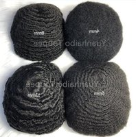 Mens Wig 4mm 6mm 8mm 10mm Afro Hair Wave Full Lace Toupee Indian Virgin Human Hair 360 Wavy Hair Replacement Free Ship