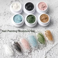 8g No Washing Nail Gypsum Gel Vibrant Color 3D DIY UV Nails Sculpture Gels for Girl Nail's Extensions Camoufalge Builder Extension Glue