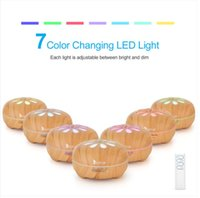 Home Duftlampen 110V 14W 550ml Aroma Diffusor brauner Kunststoff mit weißem Fernbedienung Buntes Licht