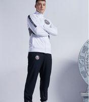 2021 America Langarm Jacke Anzug Kit Fußball Jersey Weiß Training Uniform 2022 Blaue Fußballanzüge Jacke + Hosen